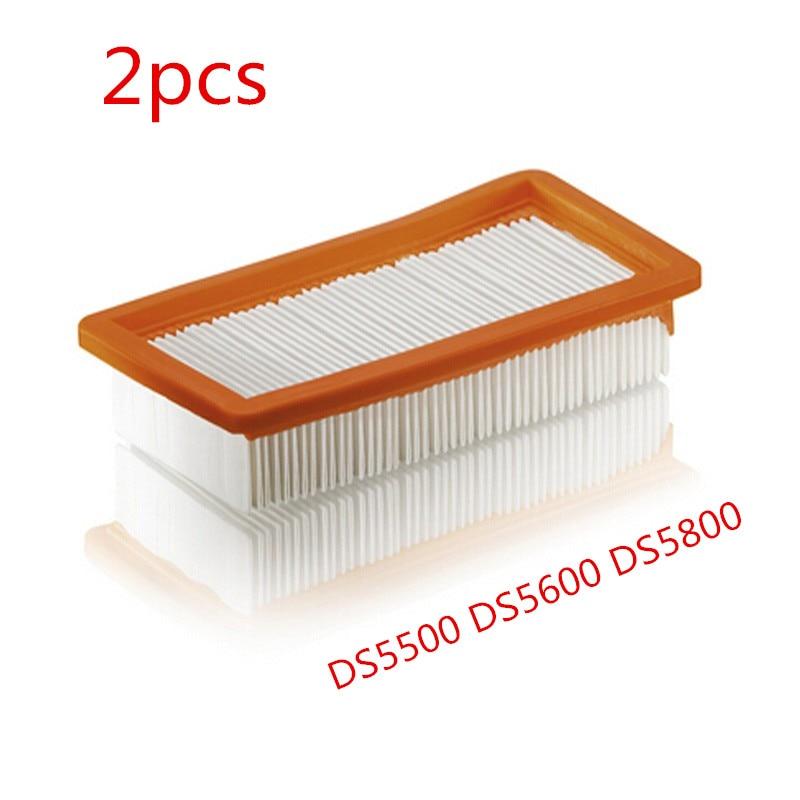 2 PCS for Karcher 6.414-631.0 Filter Vacuum Cleaner Replacement For Karcher DS5500 DS5600 DS5800 Filters Vacuum Accessory
