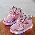 Детские kids fashion LED Light up Shoes Малыша Chaussure Enfant мальчики девочек и девушек кроссовки casual shoes 1 2 3 4 5 6 7 поименный старый