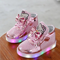Moda para niños de luz led up shoes niño chaussure enfant chicos gilrs sneakers casual shoes 1 2 3 4 5 6 7 síes de edad