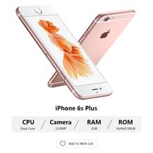 """Unlocked Apple iPhone 6S / 6s artı çift çekirdekli 2GB RAM 16/64/128GB ROM 4.7 """"& 5.5"""" 12.0MP kamera 4K Video iOS 9 LTE kullanılan cep telefonları"""