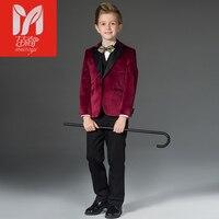 Children's boy suits Blazers velvet suits wedding in the big child flower girl British Dress smalljacket children's clothing