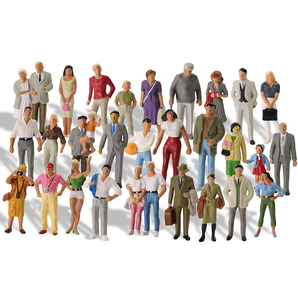 30 pces tudo em pé o escala pessoas 143 figuras pintadas escala railway figuras cenário miniatura p4310