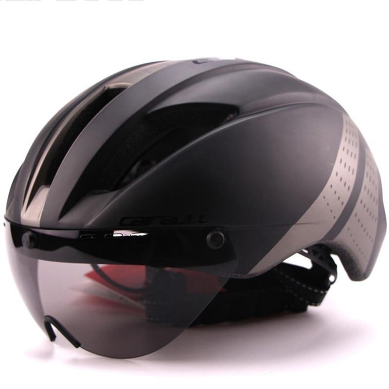 280g Aero Ultra light Goggle TT Road Bicycle Helmet Racing Cycling Bike Sports Safety Helmet TT Timed Road Bike Helmet 8colors