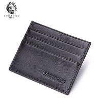 Laorentou Genuine Leather Thin Credit Card Case Men Wallet With Card Slot Soft Leather Fashion ID Card Holder Slim Purse N56