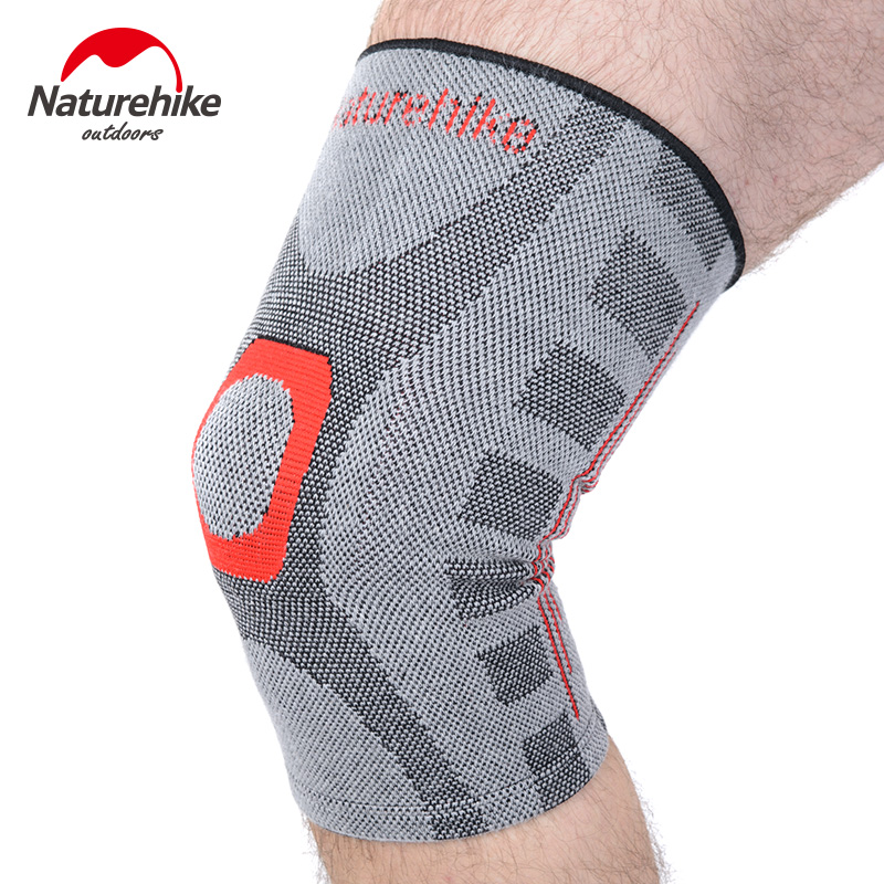 NatureHike High elastic Elbow & Knee Pads basketball knee support fitness Running Brace Sports Safety Kneepad