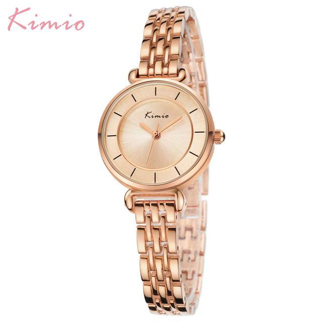 Kimio Gold Watch Women Watches Ladies Creative Steel Womens Bracelet Watches Female Clock Relogio Feminino Montre Femme