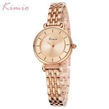 Kimio relógio de ouro mulher relógios senhoras criativo aço pulseira feminina relógios relógio feminino relogio feminino montre femme