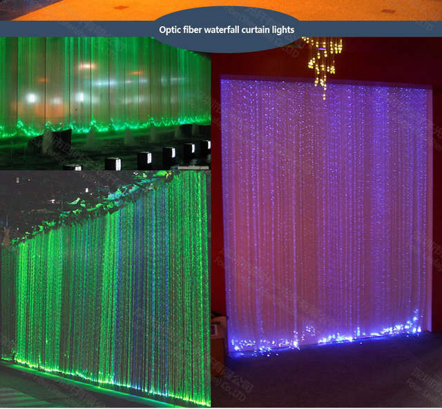 Us 0 7 2mm By Meter Side Le Sparkle Led Water Flow Optical Light Fountain Optic Fiber Cable For Droplight Wall Lighting In