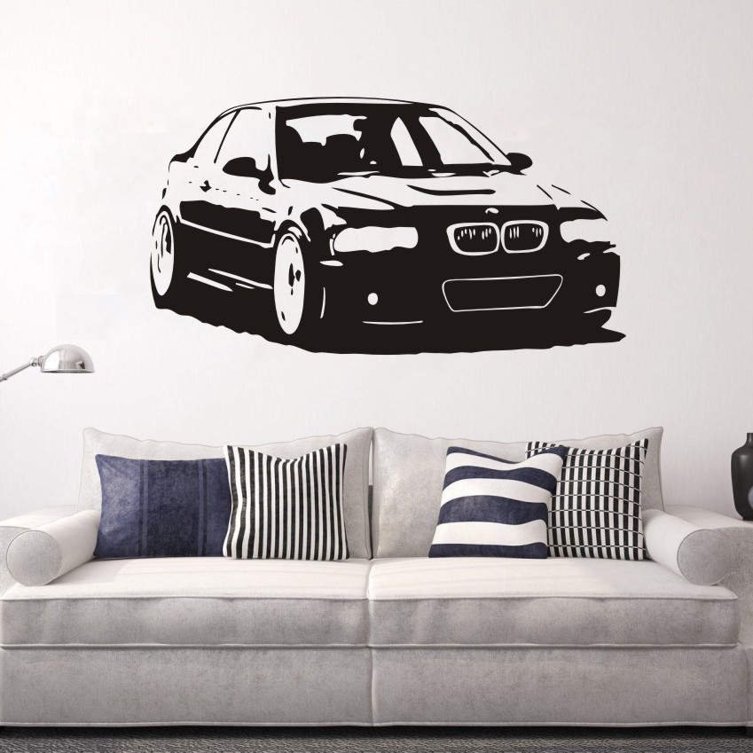 BMW M3 Series Car Vinyl Wall Sticker Mural Home Decor Living Room Decoration Salon Decal Bedroom D Art Poster W011 in Wall Stickers from Home Garden