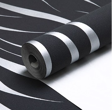 Wohnzimmer Schwarz Silber design wohnzimmer schwarz wei silber tapete in schwarz frs wohnzimmer 25 ideen und beispiele Design Wohnzimmer Tapeten Schwarz Wei Schwarz Streifen Hintergrund Kaufen Billigschwarz Streifen