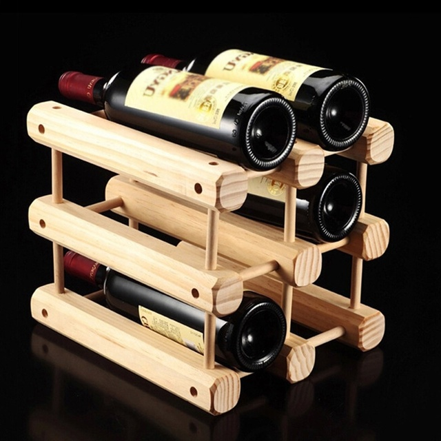 Big Promotion Strong Solid Wine Shelf Home Decoration Rack Luxury