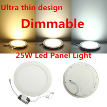 LED Panel Light Dimmable 3W 4W 6W 9W 12W 15W 25W High brightness LED Ceiling Light with adapter AC85-265V indoor Light