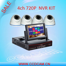 CCDCAM cheap 4 pcs 720P ip cctv security camera with  NVR Recorder 4ch ip Camera cctv NVR Kit for video surveillance system