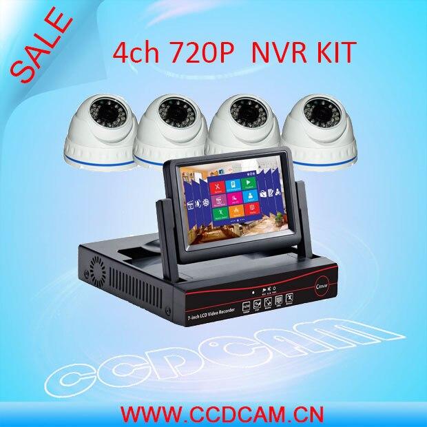 CCDCAM cheap 4 pcs 720P ip cctv security camera with  NVR Recorder 4ch ip Camera cctv NVR Kit for video surveillance system camera cctv cameras camera camera ip - title=