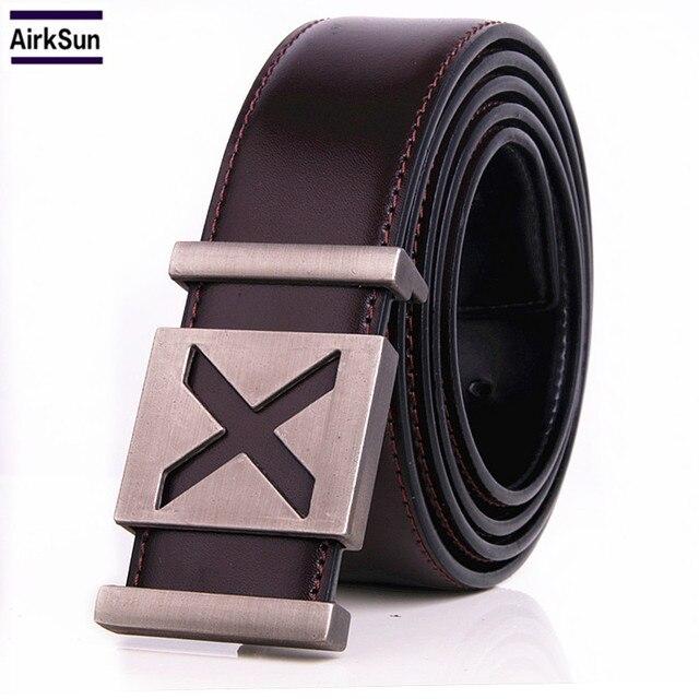df571c7fc8137 € 8.35 29% de réduction|DESTIN hommes ceintures lisse cuivre boucle  ceinture En Cuir de haute qualité marque Designer taille bracelet pour  homme ...
