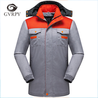 Workshop Uniforms Unisex Work Wear Protective Clothing Men Patchwork High Quality Engineering Service Winter Windproof Warm Coat