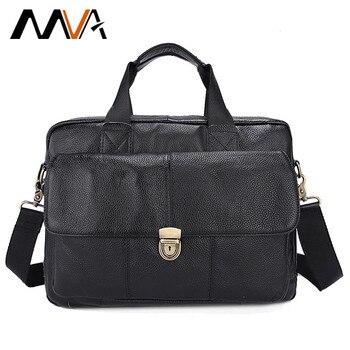 Genuine Leather Men Bag Mens Leather Bag for Work Men Briefcases Handbags Totes Large Shoulder Bags Briefcase Laptop Bags