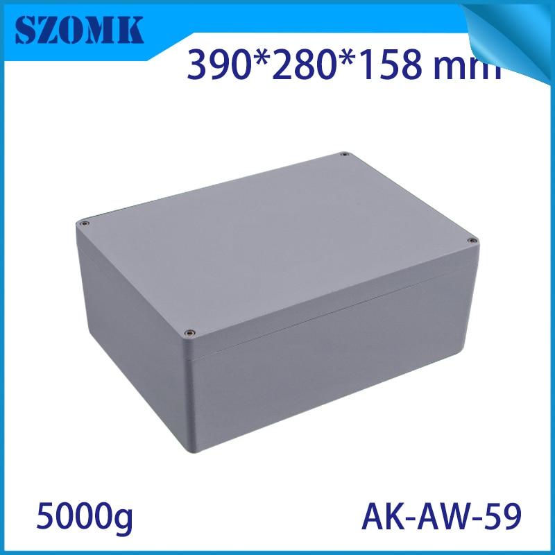 Boîtiers en aluminium extrudé moulé sous pression boîtier de projet électronique PCB boîtier de Distribution étanche en aluminium Case390X280X158MM