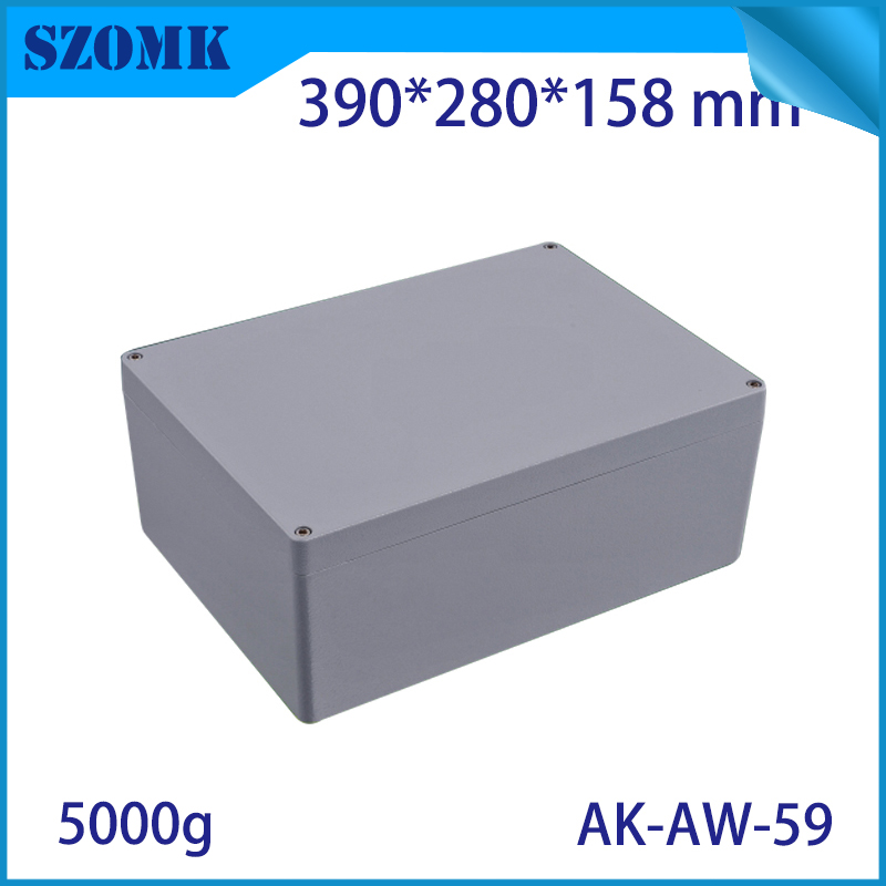 Die Cast Extruded Aluminum Enclosures PCB Instrument Electronic Project Box Aluminum Waterproof Distribution Case390X280X158MM black extruded aluminum enclosures pcb instrument electronic project box case 100x76x35mm