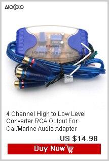 2 Channel HI//LOW Level Konverter High Lautsprecher Output to RCA Linie Ebene zu