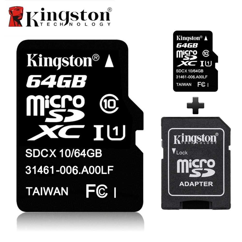 kingston micro sd card 16gb 32gb 64gb 8gb class 10 memory flash card microsd tarjeta flash tf. Black Bedroom Furniture Sets. Home Design Ideas