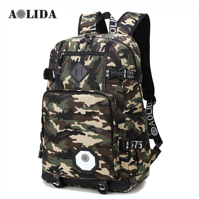 AOLIDA Camouflage Backpack Men Women Fashion Camo School Backpacks Laptop High School Middle School Bags For Boy Girl Teenagers new gravity falls backpack casual backpacks teenagers school bag men women s student school bags travel shoulder bag laptop bags