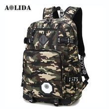 AOLIDA Camouflage Backpack Men Women Fashion Camo School Backpacks Laptop High School Middle School Bags For