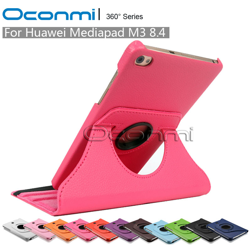 360 Rotating PU Leather Case For Huawei Mediapad M3 8.4 BTV-W09 BTV-DL09 Protective Sleeves Tablet Case Cover