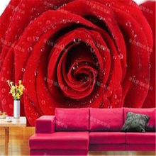 beibehang 3d stereoscopic wallpaper Red roses