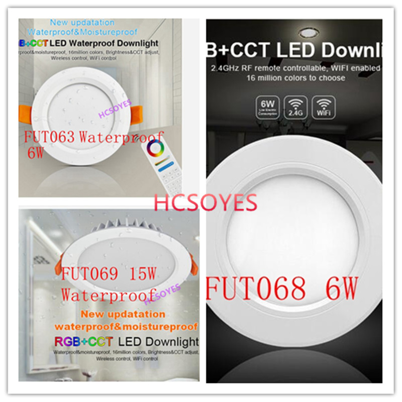 Downlights Mi Light Fut068 6w Led Downlight Rgb Cct Ac85-265v Smart Led Bulb 2.4g Wireless Dimmable Home Lighting 16million Colors Ceiling Lights & Fans