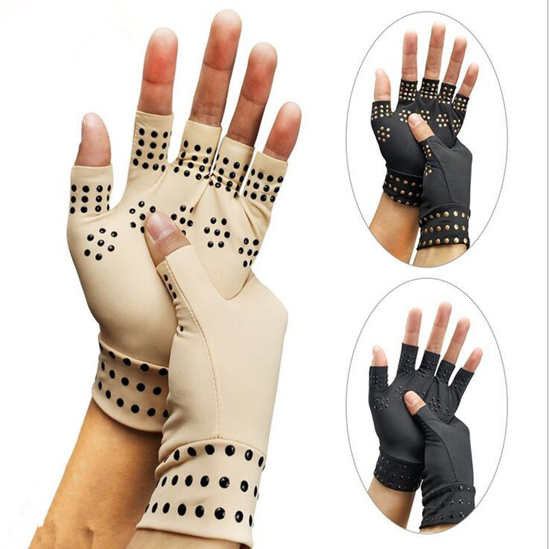 Arthritis Therapy Gloves Relief Arthritis Pressure Pain Heal Joints Magnetic Therapy Gloves Support Hand Massager Toiletry Kits