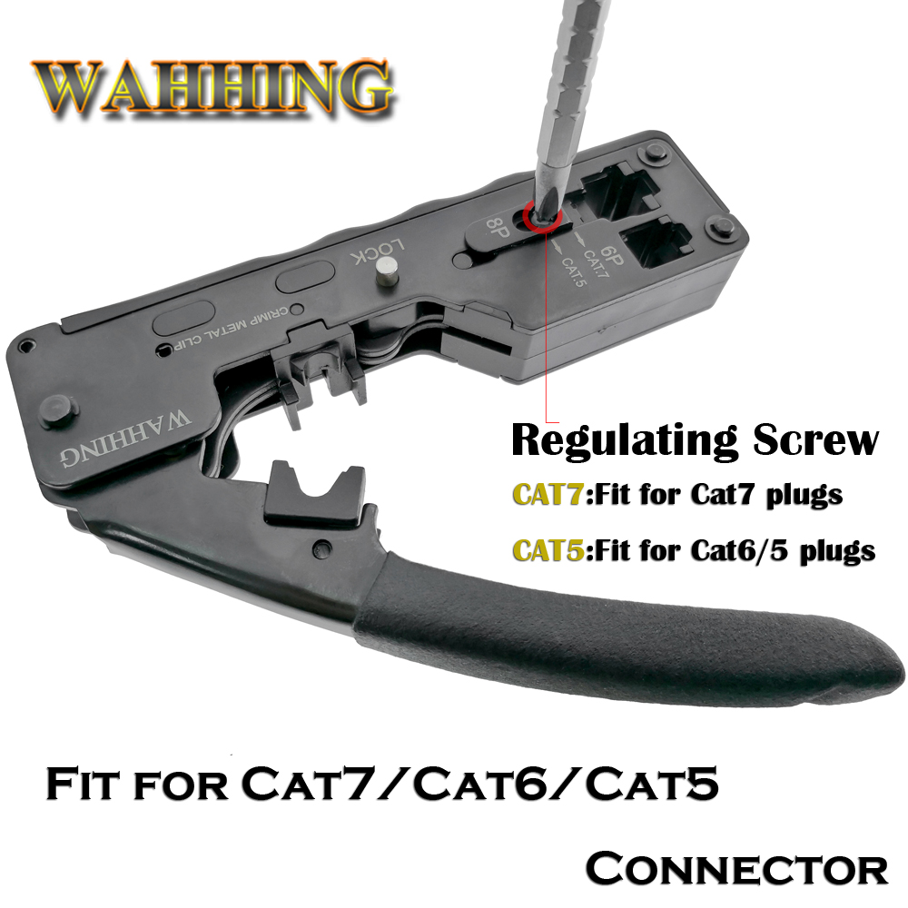 RJ45 Tool Network Crimper Crimping Tools For Cat7 Cat6 Cat5e Cat5 STP Plugs RJ45 Connector Cables Multifunctio Crimp Metal Clip