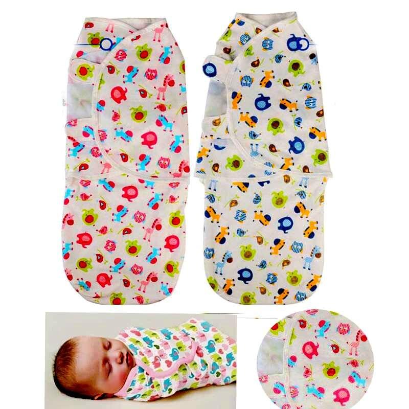 Сезон: весна–лето Стиль 100% хлопок детские спальный мешок с животным принтом для сна Sack Детские коляски спальный мешок для Пеленальное Одеяло