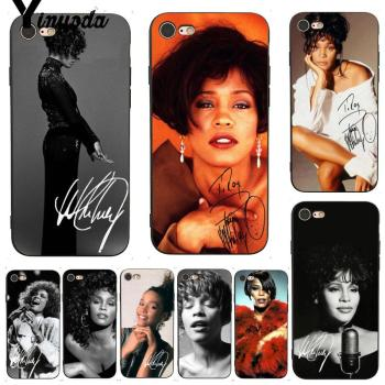 Yinuoda Sexy Singer Whitney Houston Phone Accessories Case for iPhone X 6 7 6s 7plus 8 8Plus XS XR 5C SE 11 11pro 11promax image