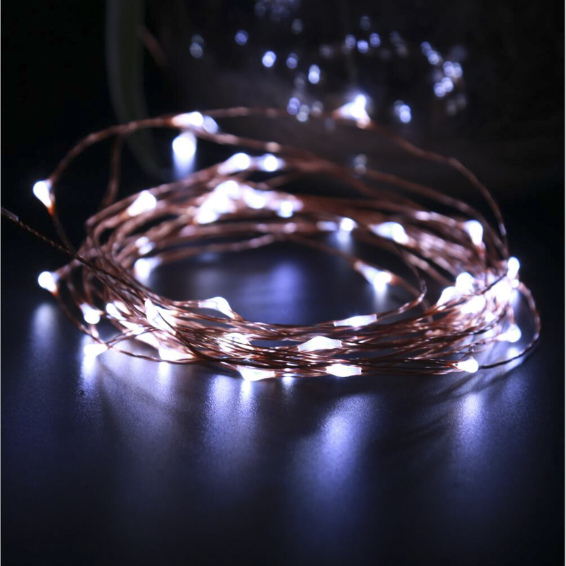 30M IR Remote LED Koppar Wire Novelty Lights String Vattentät - Festlig belysning - Foto 5