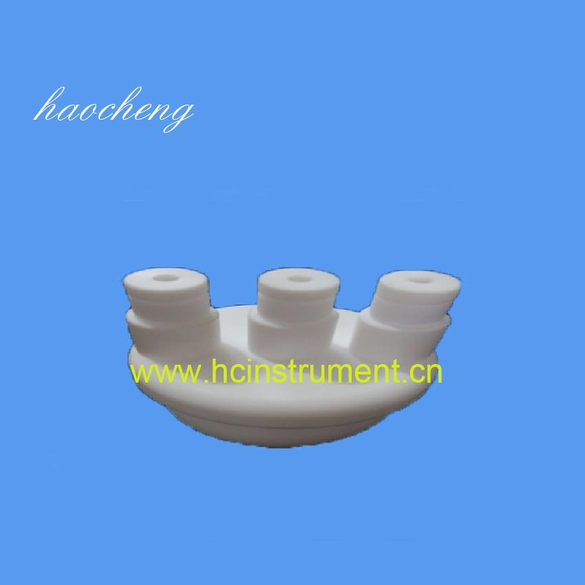 solution chemistry 17 100ml white chemistry laboratory equipment plastic PTFE three neck beaker cups