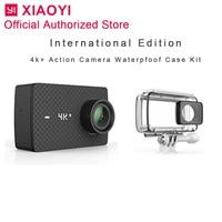 Международная спортивная Экшн камера Xiaomi Yi 4 k Plus уличная камера camera экран Wifi Bluetooth Водонепроницаемый сенсорный экран Camaras APP