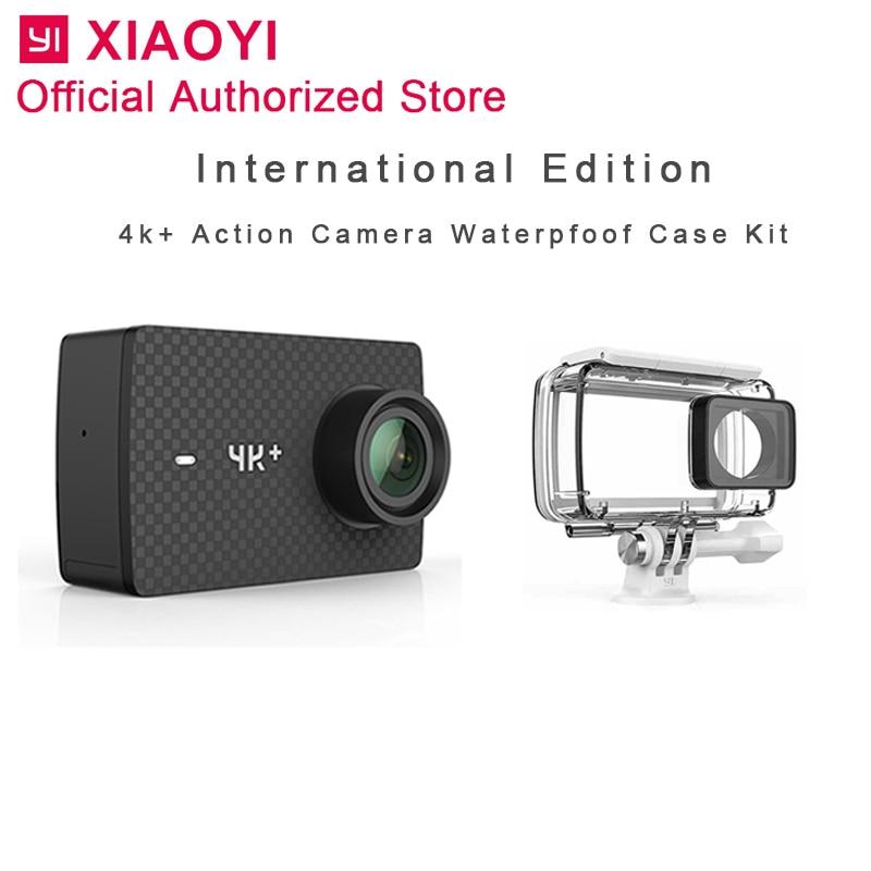 Caméra d'action internationale Xiaomi Yi 4 k Plus caméra Sport caméra extérieure Kamera écran Wifi Bluetooth étanche écran tactile Camaras APP