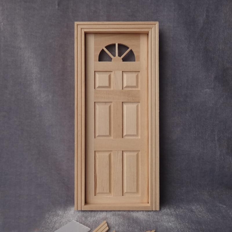 Merveilleux New Arrival 1/12 Scale Dollhouse Miniature Door Model DIY Miniaturas Wooden  Furniture Accessories
