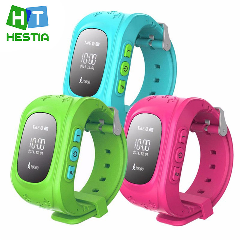 SıCAK Akıllı İzle Çocuk Çocuk Kol Q50 GSM GPRS GPS Bulucu Izci Anti-kayıp Smartwatch Çocuk Guard için iOS Android