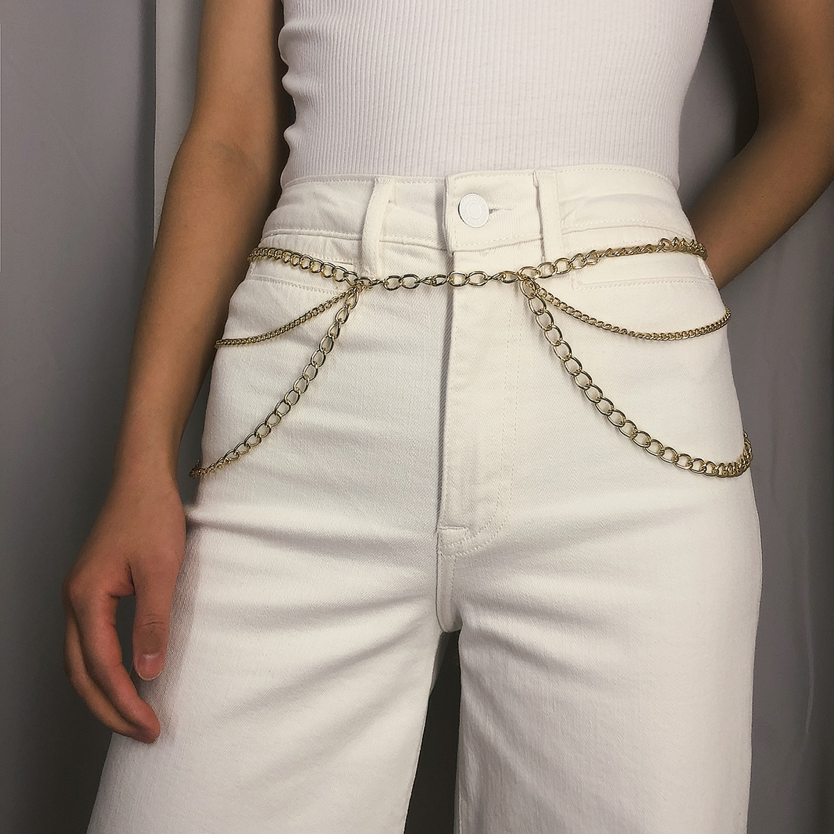 Ingemark Fashion Gold Color Belly Chain Belt Waist Beach Festival Outfit Chain Multi layer Tassel Sexy Boho Body Jewelry 2019