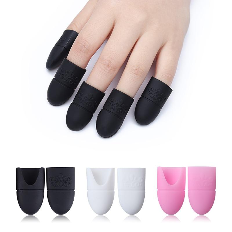 5Pcs UV Gel Polish Remover Wraps Silicone Soak Off Cap Clip Soaker Caps Manicure Nail Art Tool Set