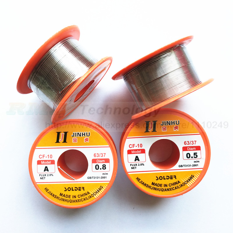 Essential 1 pcs 0.5mm 0.8mm Tin Lead Melt Rosin Core Flux Solder Soldering Welding Wire Reel free shipping wlxy 0 51mm diam tin lead melt rosin core solder wire reel flux 1 2 percent