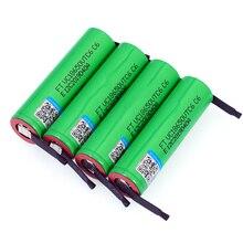 Varicore vtc6 3.7v 3000 mah 18650 li ion bateria recarregável 30a descarga para us18650vtc6 baterias + folhas de níquel diy