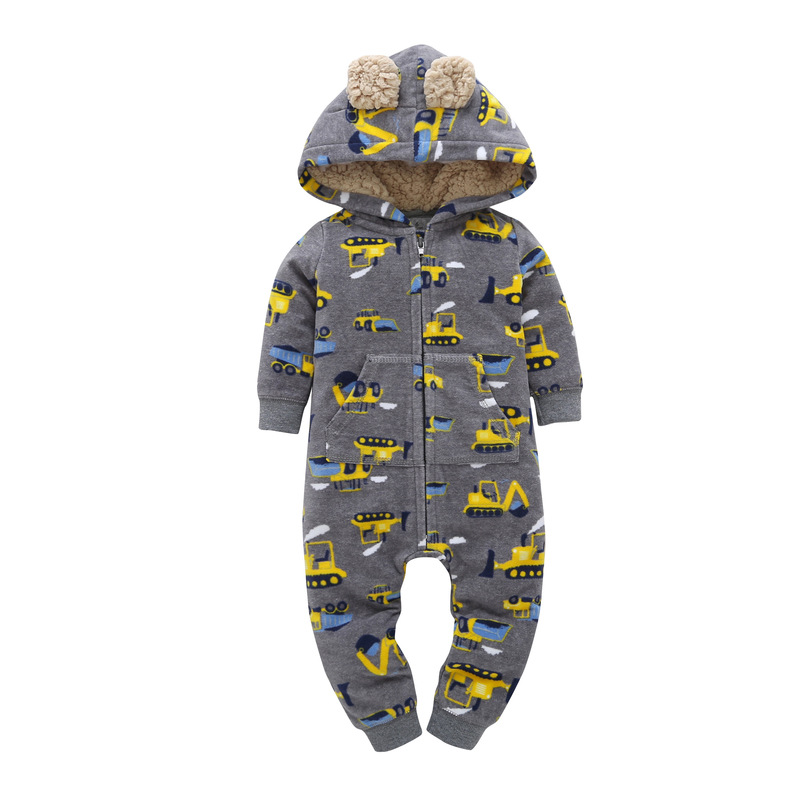 2017 new arrival baby rompers fashion long sleeve Jumpsuit newborn hooded clothes baby boy girls cotton outwear autumn winter 2017 new baby rompers winter thick warm baby girl boy clothing long sleeve hooded jumpsuit kids newborn outwear for 1 3t