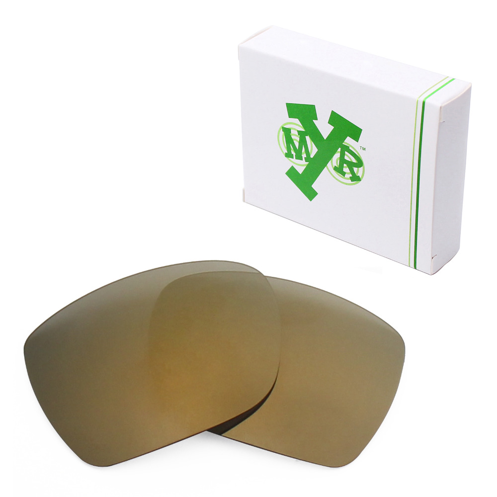 Mryok Anti-Scratch POLARIZED Replacement Lenses for Oakley Deviation Sunglasses Bronze Gold