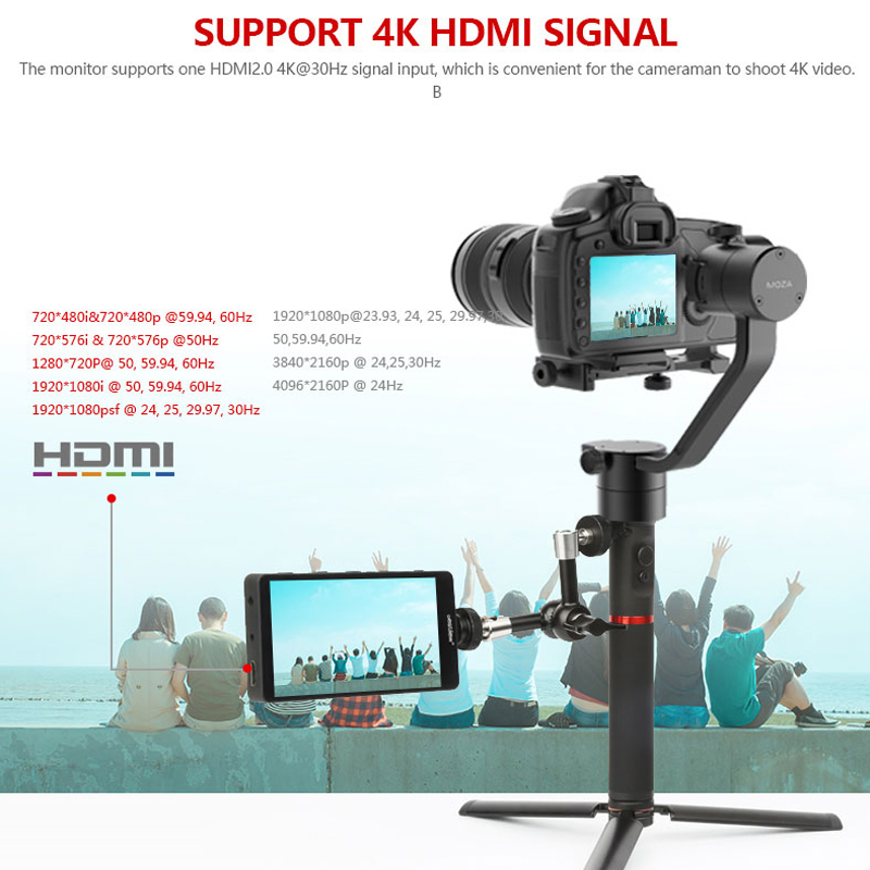 Bestview S5 Monitor 5 5 inch 4K input narrow screen side monitor for SONYA9  A7III A7II ZHIYUN DSLR Hdmi Camera Field Monitoring