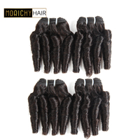 Morichy Funmi Hair Weave 4 Bundle Deals Brazilian Bouncy Curly Human Hair Bundles Spiral Curls Remy Hair 50G/Piece Free Shipping