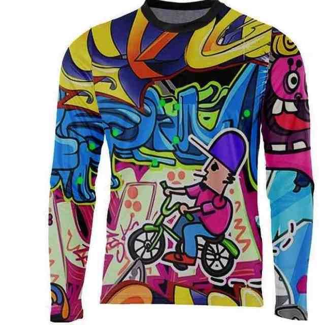 2018 New Red Black Yellow Moto GP Mountain Bike Motocross Jersey BMX DH  Long MTB T Shirt Clothes Sportswear Downhill MX MTB -in Cycling Jerseys  from Sports ... b94ab6a1e