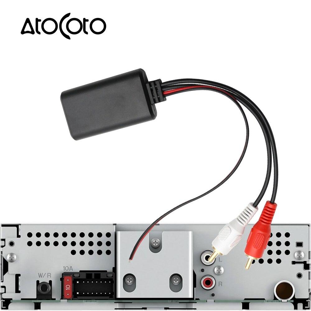 Para coche radio AUX adaptador Bluetooth cable cinch enchufe Universal Audio